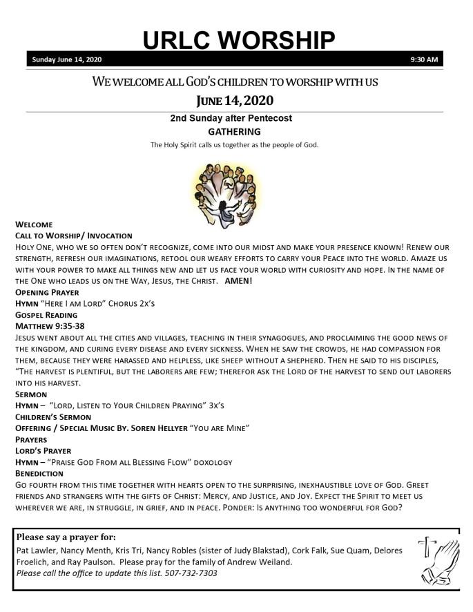 6-14-2020 Bulletin
